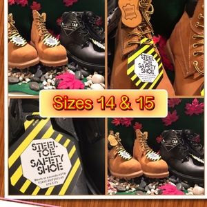 Steel Toe Genuine Leather Work Boot large sizes
